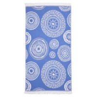 Linum Home Textiles Zarya Pestemal Beach Towel in Royal Blue
