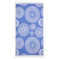 Linum Home Textiles Zarya Pestemal Beach Towel in Royal Blue