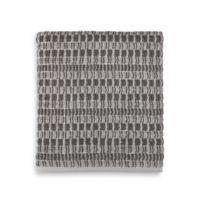 Style Lounge Geometric Cotton Bath Towel in Charcoal