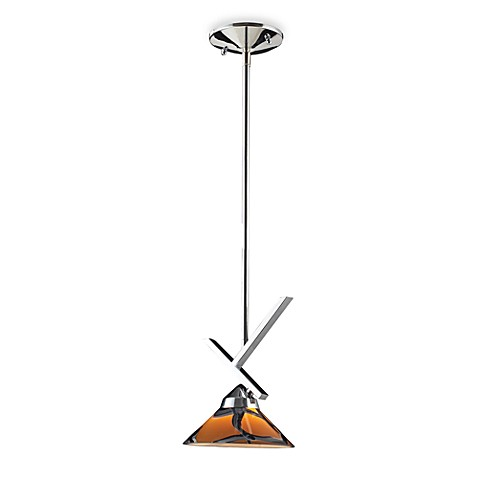 ELK Lighting 1-Light Large Pendant with Polished Chrome and Jasper Glass