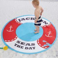 Life Preserver 60-Inch Round Beach Towel