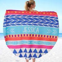 Bohemian Chic 60-Inch Round Beach Towel