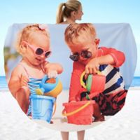 Photo Round Beach Towel
