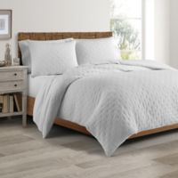 Real Simple® DUO Westwood Twin Coverlet/Duvet Cover Set in White