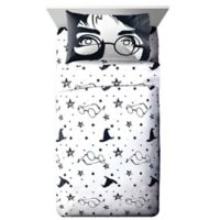 Harry Potter Always Twin Sheet Set in Black/White
