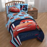 Disney® Pixar Cars 95 Reversible Twin Comforter in Blue/Red