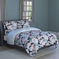 English Garden 2-Piece Reversible Twin Comforter Set in Pink/White