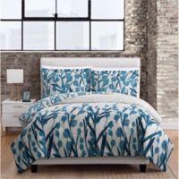 Meadow 3-Piece Full/Queen Comforter Set in Blue