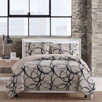 Eclipse 3-Piece Full/Queen Comforter Set in Taupe