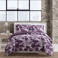 Caroline 3-Piece Full/Queen Comforter Set in Plum