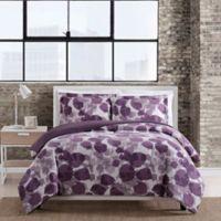 Caroline 3-Piece King Comforter Set in Plum