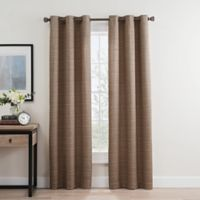 Roland 108-Inch Grommet Room Darkening Window Curtain Panel Pair in Mocha