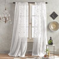 Mila Sheer 63-Inch Pole Top Window Curtain Panel in White