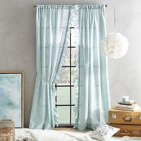 Peri Home Sadie 108-Inch Pole Top Window Curtain Panel in Aqua