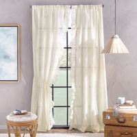 Peri Home Sadie 84-Inch Pole Top Window Curtain Panel in Ivory