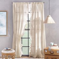 Peri Home Sadie 84-Inch Pole Top Window Curtain Panel in Linen