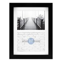 Gallery Matted Wood 2-Photo Picture Frame