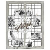 Grateful Wreath 8-Photo Collage Frame in Brown