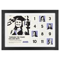 Through the Years 13-Photo Collage Picture Frame in Black
