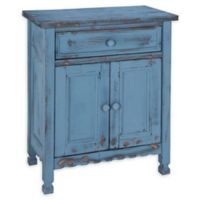 Alaterre Country Cottage Accent Cabinet in Antique Blue