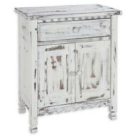Alaterre Country Cottage Accent Cabinet in Antique White