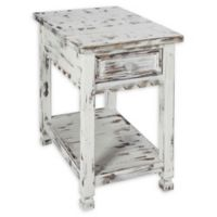 Alaterre Country Cottage Chairside Table in Antique White