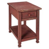 Alaterre Country Cottage Chairside Table in Antique Red