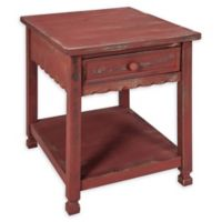 Alaterre Country Cottage End Table in Antique Red