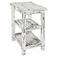 Alaterre Country Cottage 2-Shelf End Table in Antique White