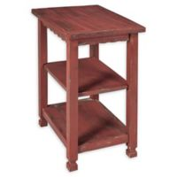 Alaterre Country Cottage 2-Shelf End Table in Antique Red