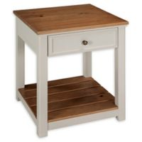 Alaterre Savannah End Table in Ivory/Natural