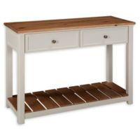 Alaterre Savannah 40-Inch 2-Drawer Console Table in Ivory/Natural