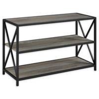 "Forest Gate 40"" Blair Industrial Modern Media Bookshelf in Grey Wash"