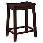 Linon Julien Backless Stool in Wenge