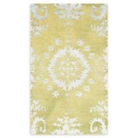 "Safavieh Stone Wash 2'6"" x 8' Kay Rug in Chartreuse"