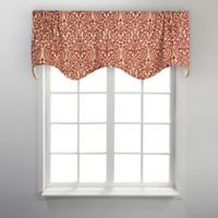 Sri Lanka Scalloped Valance in Red
