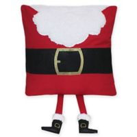 Santa Torso Square Pillow in Red