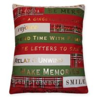 Christmas Rules 20-Inch Square Pillow in Red