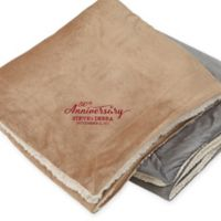 Everlasting Love 60-Inch x 72-Inch Embroidered Sherpa Blanket