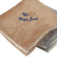 Warm Hearted 60-Inch x 72-Inch Embroidered Sherpa Blanket for Him
