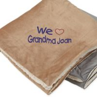 Warm Hearted 50-Inch x 60-Inch Embroidered Sherpa Blanket for Her