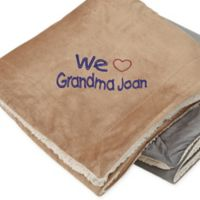 Warm Hearted 60-Inch x 72-Inch Embroidered Sherpa Blanket for Her