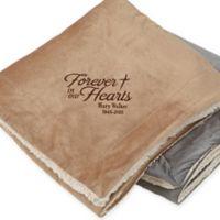 Heartfelt Memories 60-Inch x 72-Inch Embroidered Memorial Blanket