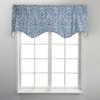 Sri Lanka Scalloped Valance in Blue