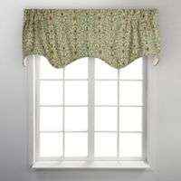 Sri Lanka Scalloped Valance in Green