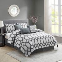 Nadia 7-Piece Queen Comforter Set in Grey