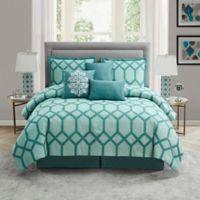 Nadia 7-Piece King Comforter Set in Blue