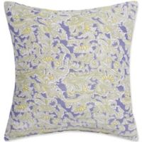Nostalgia Home™ Cathedral Window Square Throw Pillow in Ivory/Lilac