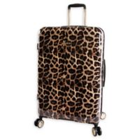Bebe Adriana 29-Inch Hardside Spinner Checked Luggage in Leopard