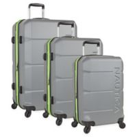 Nautica® Marine 3-Piece Expandable Hardside Spinner Luggage Set in Grey/Lime